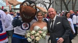 Hockey-Loving Couple Heads To Winnipeg Jets Party After