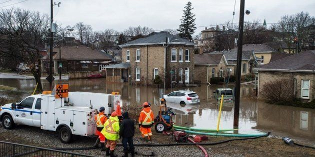 Brantford residents were evacuated due to flooding along the Grand River after an ice jam upstream of...