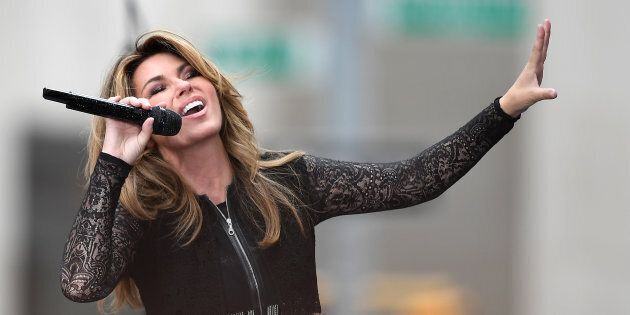 Shania Twain performs on NBC's 'Today' at Rockefeller Center on June 16, 2017 in New York