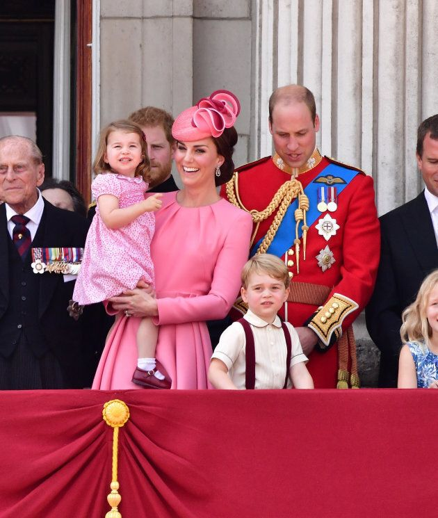 Prince Philip, Duke of Edinburgh, Princess Charlotte of Cambridge, Catherine, Duchess of Cambridge, Prince...