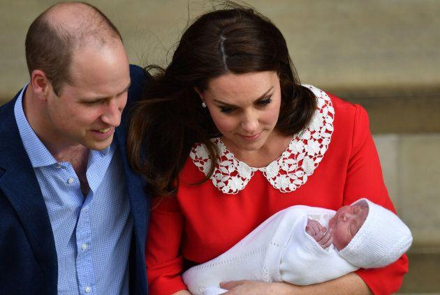 The duke and duchess with their newborn son.