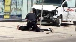 Eyewitness Video Shows Man's Arrest In Toronto After Van Hits
