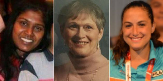 Renuka Amarasinghe, Dorothy Sewell, and Anne Marie D'Amico (left to right) were among the victims killed...
