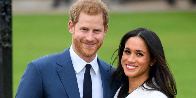 Prince Harry and Meghan Markle at their engagement announcement, Nov. 27,