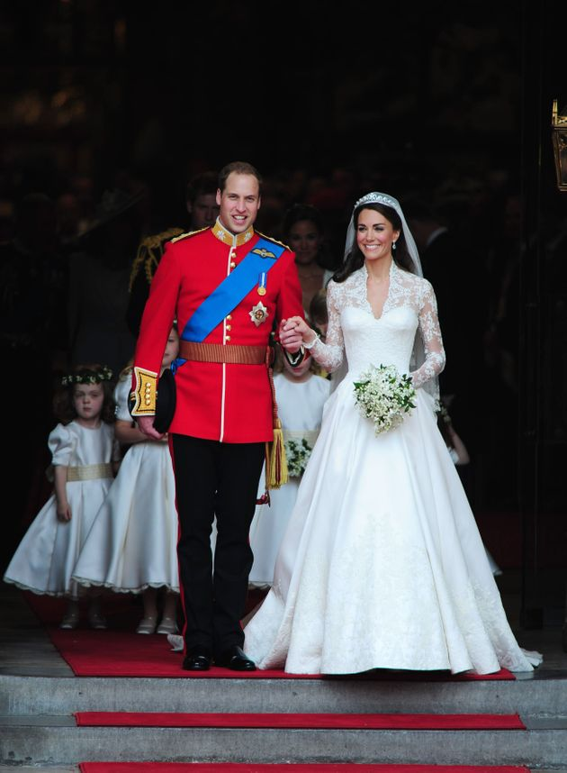 Prince William and Catherine Middleton on their wedding day, April 29,
