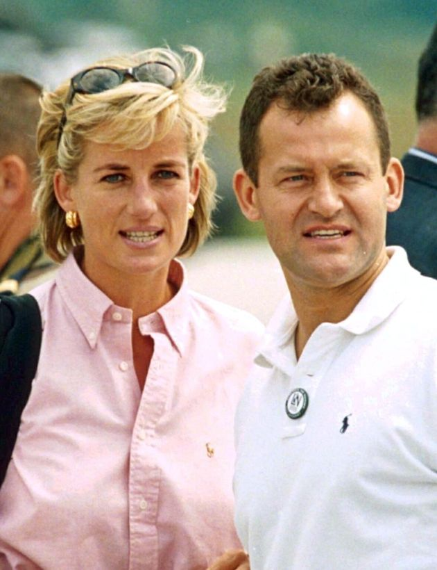 Princess Diana with her butler, Paul Burrell, Bosnia, August,