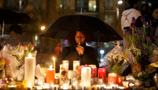 In Photos: Torontonians Mourn Victims Of Van Rampage At Rainy