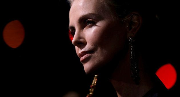 "Charlize Theron attends the premiere for ""Tully"" in Los Angeles on April 18, 2018."