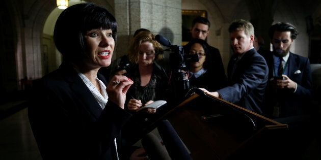 Health Minister Ginette Petitpas Taylor speaks during a news conference on Parliament Hill on Nov. 21,