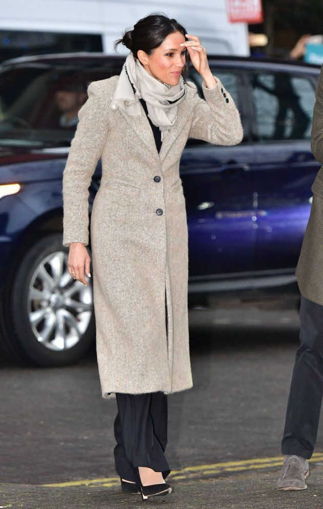 Meghan Markle arriving for a visit to youth-orientated radio station, Reprezent FM, in Brixton, south London to learn about its work supporting young people.
