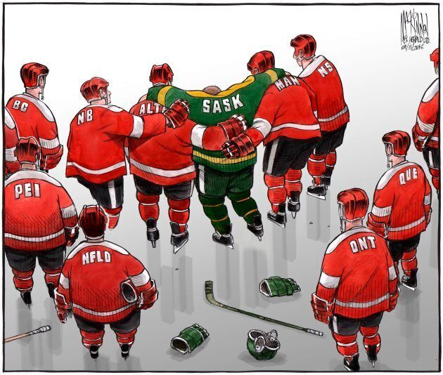 A cartoon recently published in the Halifax Chronicle Herald by cartoonist Bruce MacKinnon is shown in...