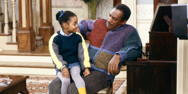 Keshia Knight Pulliam as Rudy Huxtable, left, and Bill Cosby as Dr. Heathcliff 'Cliff' Huxtable, right. Cosby was found guilty of three felony counts of aggravated indecent assault on Thursday.