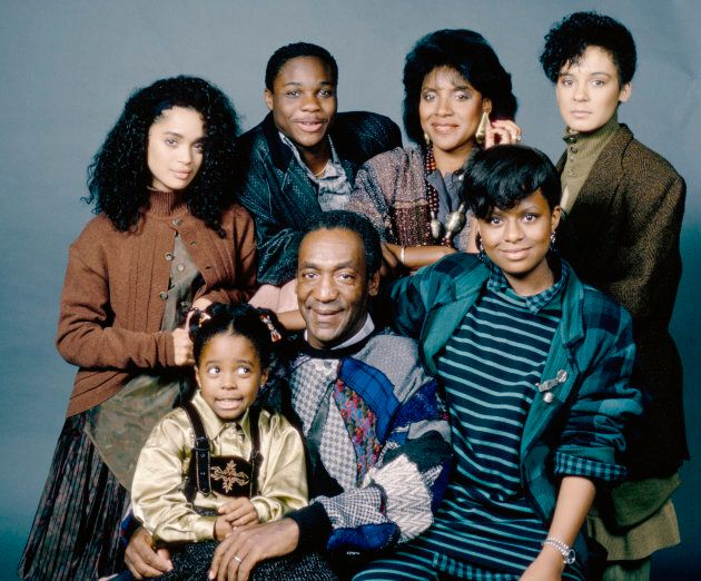 THE COSBY SHOW -- Season 3 -- Pictured: (front row l-r) Keshia Knight Pulliam as Rudy Huxtable, Bill Cosby as Dr. Heathcliff 'Cliff' Huxtable, Tempestt Bledsoe as Vanessa Huxtable (back row l-r) Lisa Bonet as Denise Huxtable Kendall, Malcolm-Jamal Warner as Theodore 'Theo' Huxtable, Phylicia Rashad as Clair Hanks Huxtable, Sabrina Le Beauf as Sondra Huxtable Tibideaux.