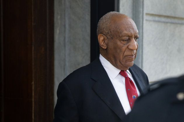 Actor and comedian Bill Cosby comes out of the Courthouse after the verdict in the retrial of his sexual assault case at the Montgomery County Courthouse in Norristown, Pennsylvania on April 26, 2018.