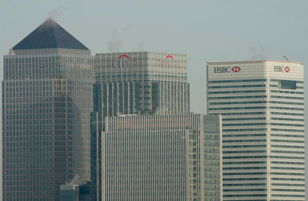 HSBC's headquarters in the Canary Wharf financial district of London, March 2, 2009. HSBC has stopped financing any new oilsands projects, as well as new oilsands-related pipeline projects.