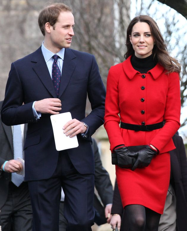 Prince William and Kate Middleton during a visit to the University of St Andrews on Feb. 25, 2011.