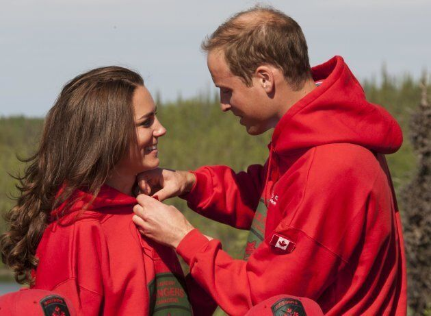 The duke and duchess at Blachford Lake Lodge in the Northwest Territories during their 2011 tour of Canada.