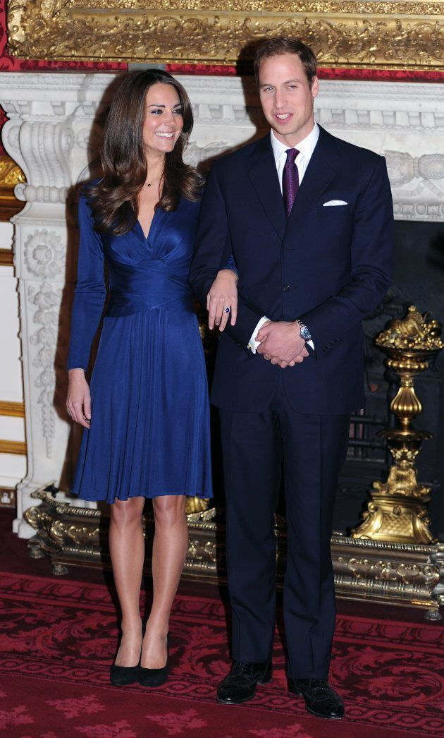 Prince William and Kate Middleton in the State Apartments of St James Palace as they announce their engagement on Nov. 16, 2010.
