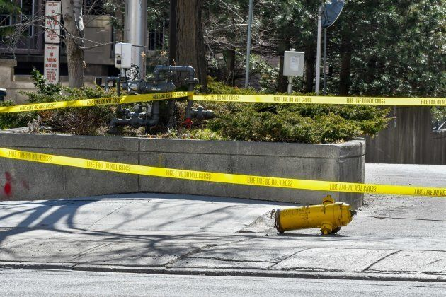 A fire hydrant was knocked over after a van struck pedestrians on Yonge Street between Finch Ave and...
