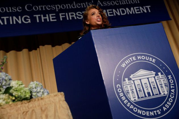 Comedian Michelle Wolf performs at the White House Correspondents' Association dinner in Washington on April 28, 2018.