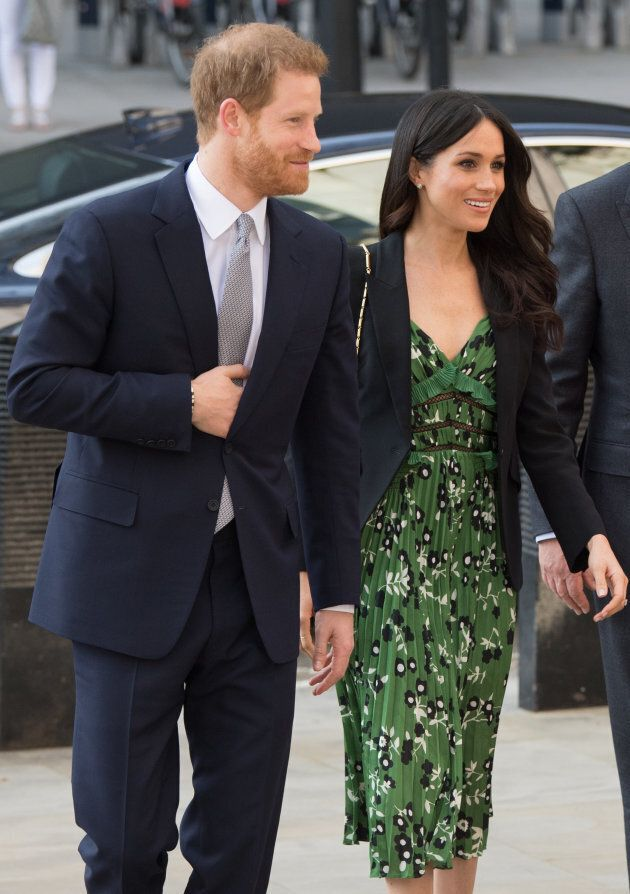 Prince Harry and Meghan Markle attend the Invictus Games Reception at Australia House on April 21, 2018...