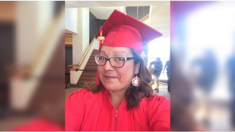 Sherry Mendowegan graduated with her high school diploma in