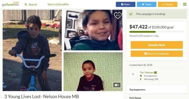 Fundraiser For 3 Cree Boys Who Died In Crash Shows Strength Of