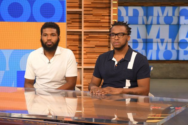 "Rashon Nelson and Donte Robinson, the two men arrested at a Starbucks in Philadelphia, tell their story on ""Good Morning America,"" on April 19, 2018."