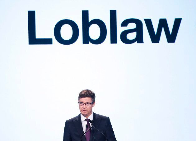 Galen G. Weston, CEO, chairman and president of Loblaw Companies Limited, speaks during the company's...