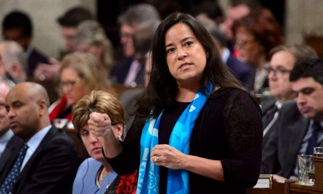 Minister of Justice and Attorney General of Canada Jody Wilson-Raybould stands during question period...