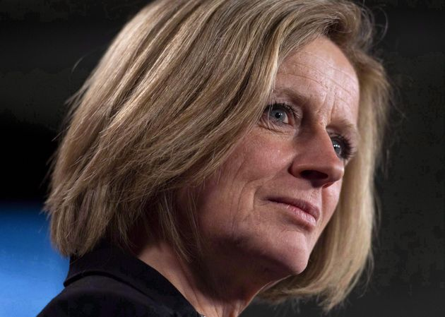 Alberta Premier Rachel Notley speaks during a press conference to discuss her meeting with Prime Minister...