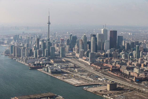 Toronto's portlands, where Sidewalk Labs has proposed its smart city project.