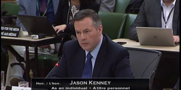 Jason Kenney appeared before a parliamentary finance committee to talk about the federal carbon tax on...