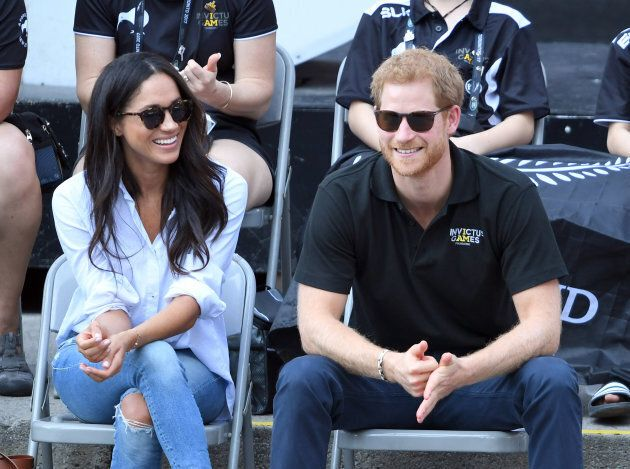 Meghan Markle and Prince Harry attend the Invictus Games in Toronto, September 2017.