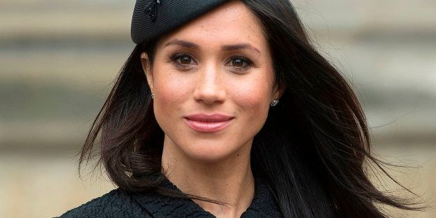 Meghan Markle, after attending a service of commemoration and thanksgiving to mark Anzac Day in Westminster...