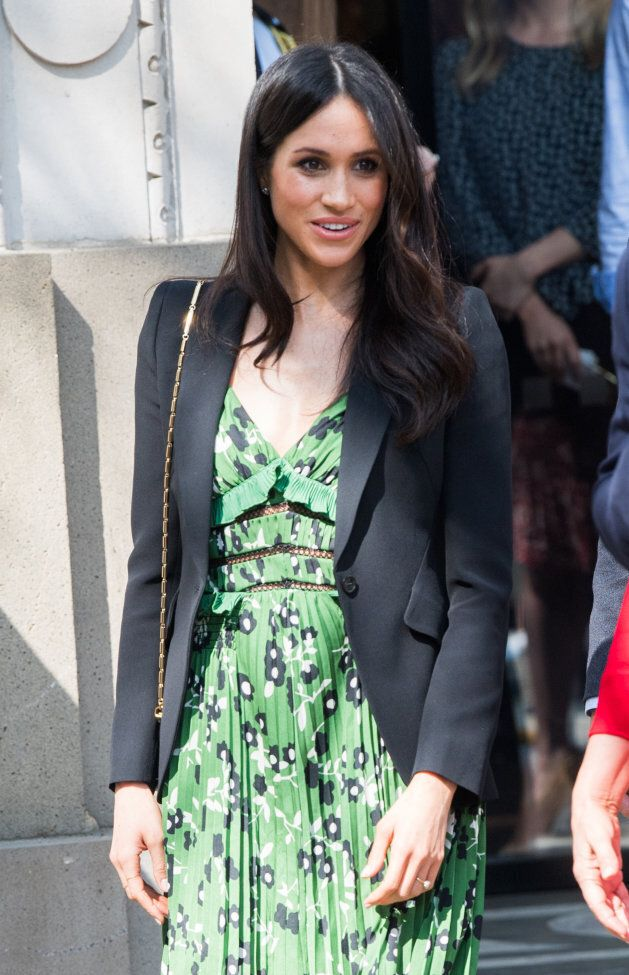 Meghan Markle attends the Invictus Games Reception at Australia House on April 21, 2018 in London.