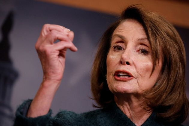 House Minority Leader Nancy Pelosi speaks at a news conference on Capitol Hill in Washington, D.C. on...