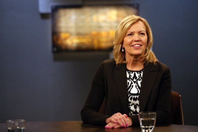 Christine Elliot at the conclusion of a debate with Provincial Progressive Conservative Leadership candidate...