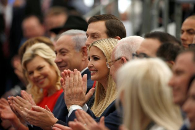 Israeli Prime Minister Benjamin Netanyahu, his wife Sara Netanyahu and Senior White House Advisers Jared...