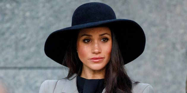 Meghan Markle attends the Dawn Service at Wellington Arch to commemorate Anzac Day in London, April 25,