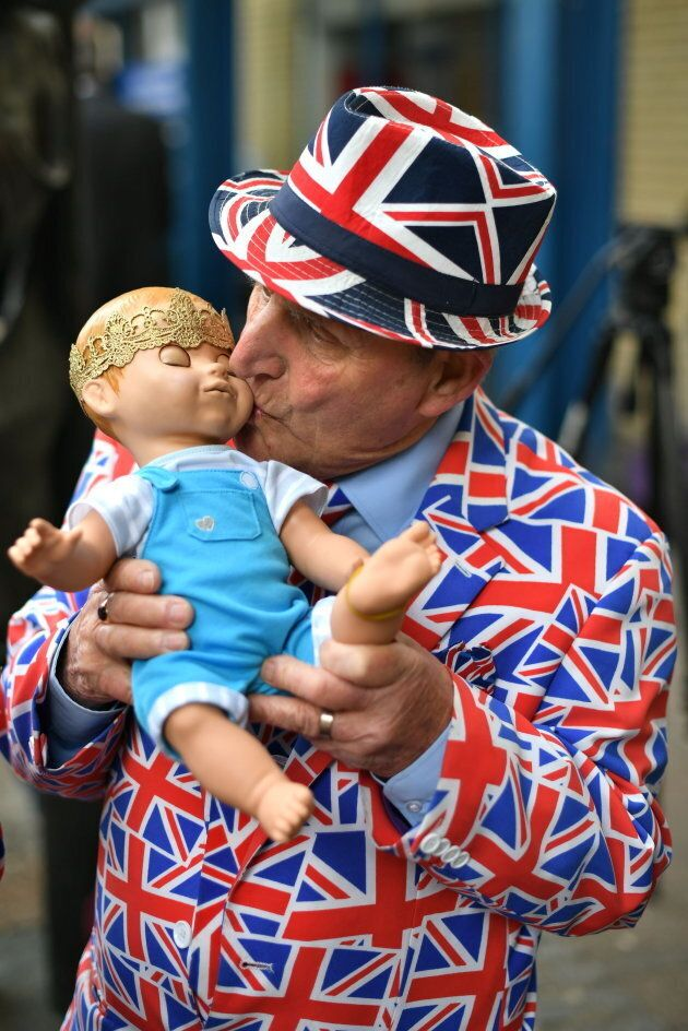 Terry Hutt outside the Lindo Wing at St Mary's Hospital in Paddington, London, where the Duchess of Cambridge gave birth to Prince Louis.