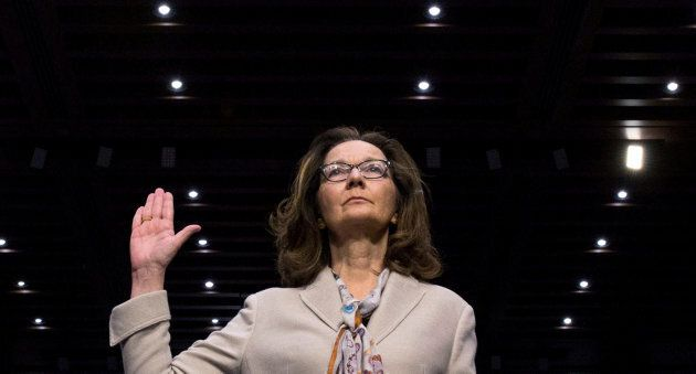 CIA director nominee and acting CIA Director Gina Haspel is sworn in to testify at her Senate Intelligence...