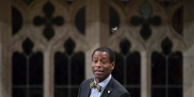 Liberal MP Greg Fergus rises in the House of Commons in Ottawa on May 20,