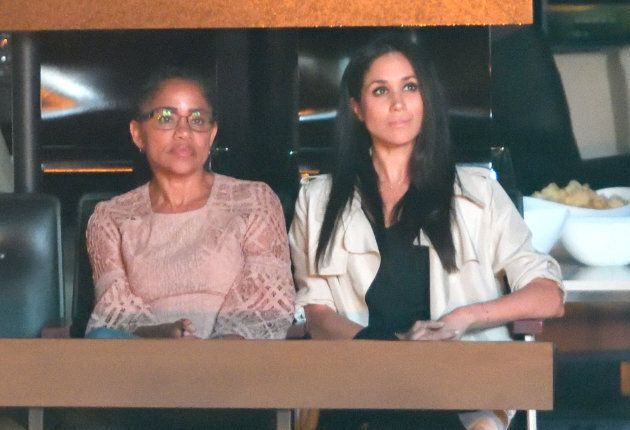 Doria Ragland and Meghan Markle at the 2017 Invictus Games Closing Ceremony on Sept. 30, 2017 in Toronto.