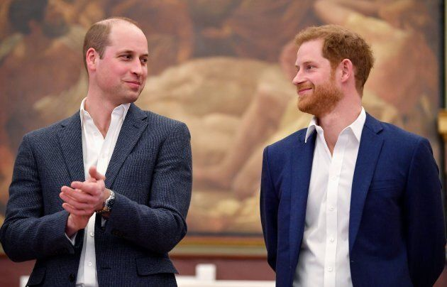 Princes William and Harry at the opening of Greenhouse Sports Centre in London on April 26,
