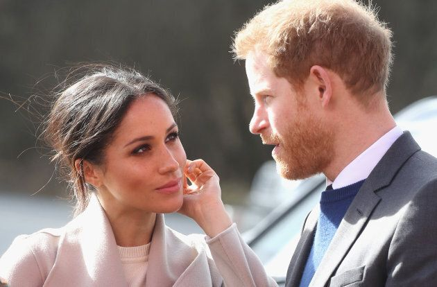 Prince Harry and Meghan Markle during their visit to Northern Ireland on March 23,