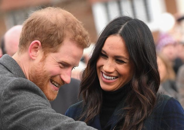 Prince Harry and Meghan Markle visit Edinburgh Castle on Feb. 13, 2018 in