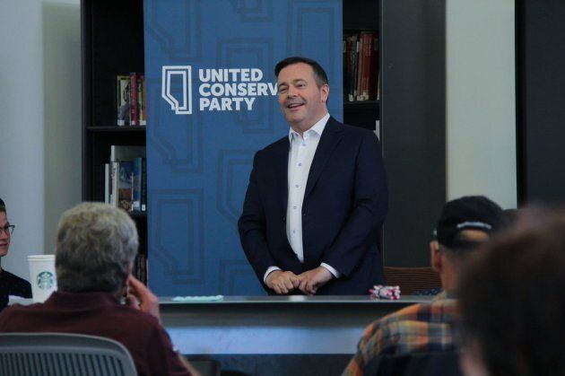 United Conservative Party Leader Jason Kenney addresses supporters at an even in Calgary Lougheed on...