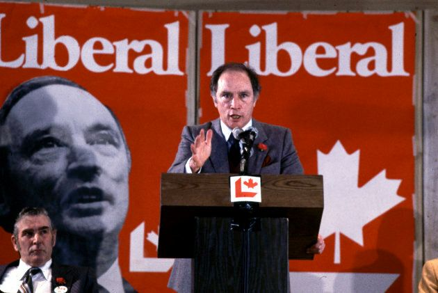 File photo of Pierre Elliott Trudeau speaking at the Liberal Convention on Feb. 15,