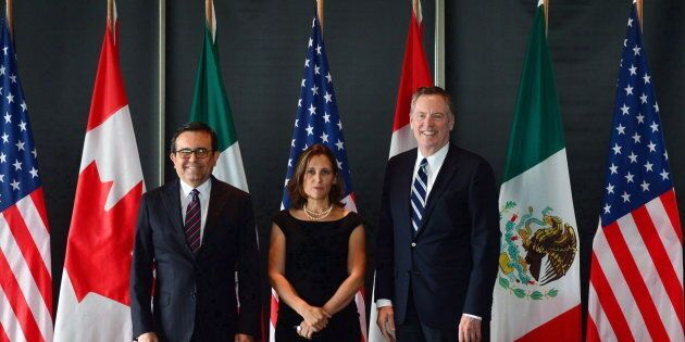 Minister of Foreign Affairs Chrystia Freeland meets for a trilateral meeting with Mexico's Secretary...